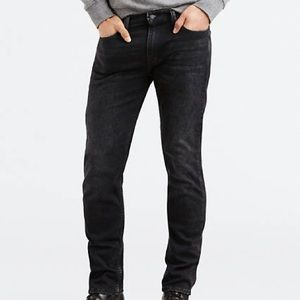 Men's Levi 511 Skinny Black Denim